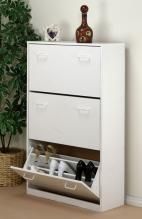 Triple Shoe Cabinet  white