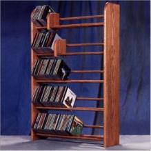Solid Oak 5 Row Dowel Cd Rack