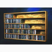 Solid Oak Wall Or Shelf Mount Cd Cabinet
