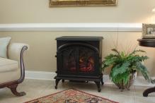 Fox Hill Electric Fireplace Stove, Blk, 1350 Watt