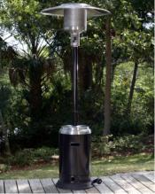 46K Btu Patio Heater - Stainless And Black - 85 Cm Reflector