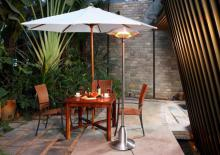 Stainless Steel Floor Standing Round Halogen Patio Heater