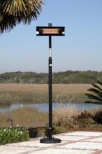 1500 Watt Infrared Straight Black Pole Patio Heater, W/Wheels