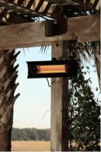 Black Steel Wall Mounted Infrared Patio Heater