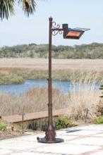 Hammer Tone Bronze Telescoping Infrared Patio Heater