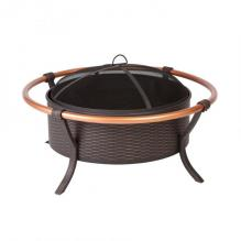 37-inch Copper Rail Firepit, Antique Bronze