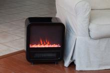 Black Skyline Electric Fireplace Stove