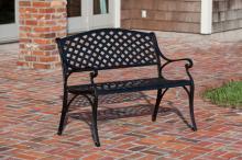 Antique Bronze Cast Aluminum Patio Bench