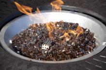 Burnt Bronze Reflective Fire Glass