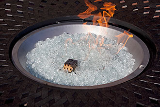 Crystal Clear Reflective Fire Glass
