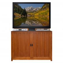 Elevate Mission Oak TV Lift Cabinet