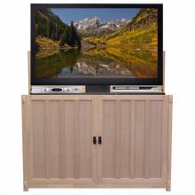 Grand Elevate Mission Oak - Unfinished TV Lift Cabinet