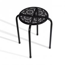 Atlantic Daisy Stackable Stool 6 pack Black