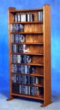 Solid Oak 8 Shelf Cd Cabinet