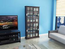 Windowpane 720 Cd/288 DVD Media Cabinet In Espresso