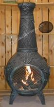 Grape Chiminea Outdoor Fireplace W/Gas
