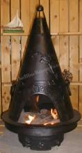 Garden Chiminea Outdoor Fireplace W/Gas