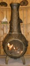 Butterfly Chiminea Outdoor Fireplace W/Gas
