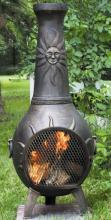 Sun Stack Chiminea With Gas