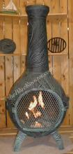 Orchid Chiminea Outdoor Fireplace W/Gas