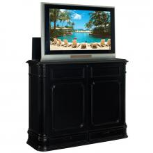 Crystal Pointe Black TV Lift Cabinet