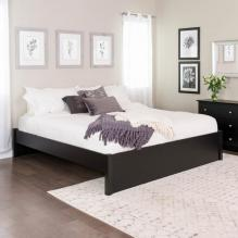King Select 4-Post Platform Bed, Black