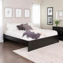 King Select 4-Post Platform Bed, Black
