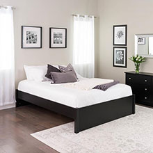 Queen Select 4-Post Platform Bed, Black