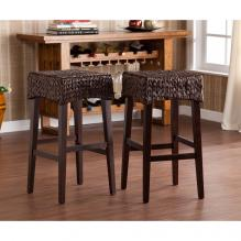 Pair Water Hyacinth 26 inch Stools