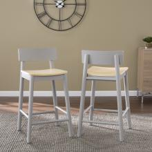 Claxby Two-Tone Counter Stools - 2pc Set