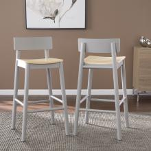 Claxby Two-Tone Bar Stools - 2pc Set