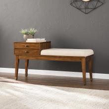 Rhoda Midcentury Modern Upholstered Storage Bench