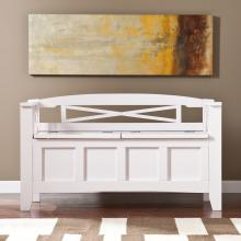 Cutler Storage Bench - White