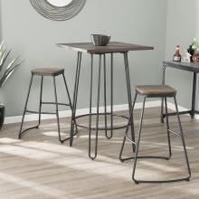 Roldon Backless Barstools - 2pc Set - Black