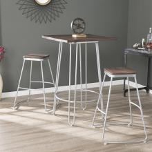 Roldon Backless Barstools - 2pc Set - Silver
