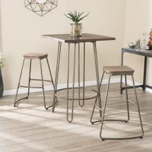 Roldon Backless Barstools - 2pc Set - Gray