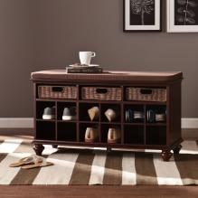 Chelmsford Entryway/Shoe Bench - Espresso