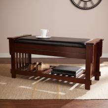 Josefina Mission Storage-Seat Bench