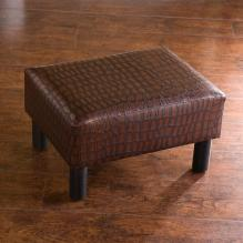 Foot Stool - Faux Alligator