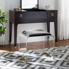 Magley Upholstered Acrylic Vanity Stool
