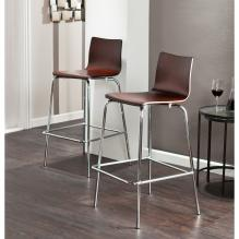 Holly & Martin Blence 2Pc Barstools - Espresso