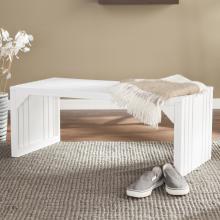Slat Bench/Table - White
