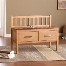 Boise Midcentury Modern Two-Drawer Storage Bench