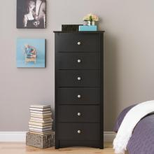 Black Sonoma Tall 6 Drawer Chest