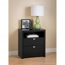 Black Series 9 Designer - Tall 2 Drawer Nightstand