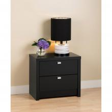 Black Series 9 Designer - 2 Drawer Nightstand