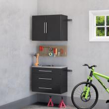Black HangUps 30 inch Storage Cabinet Set A - 2pc