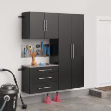 Black HangUps 60 inch Storage Cabinet Set B - 3pc