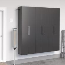 Black HangUps 72 inch Storage Cabinet Set C - 3pc