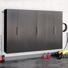 Black HangUps 108 inch Storage Cabinet Set E - 3pc